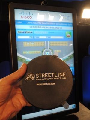 Cisco đang lắp đặt các bộ cảm biến Streetline tại các trụ sở chính của công ty như một phần của chương trình tăng tốc cho Internet Sự Vật.