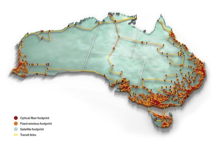 Mạng băng thông rộng: Ý tưởng ban đầu của mạng NBN của Úc là cung cấp kết nối dữ liệu tốc độ cao—93% các kết nối là cáp quang—cho tất cả người dân. Diện tích rộng lớn và dân cư thưa thớt của Úc làm cho dự án nhiều tranh cãi này trở thành một dự án chưa từng có tiền lệ và vô cùng tham vọng.